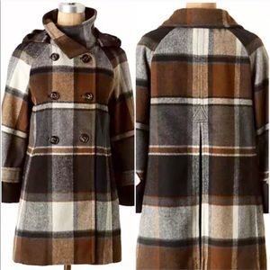 Classic Anthropologie Plaid Coat by Elevenses